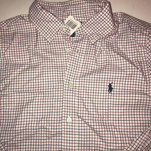 Boys Polo Ralph Lauren Dress shirt red white blue